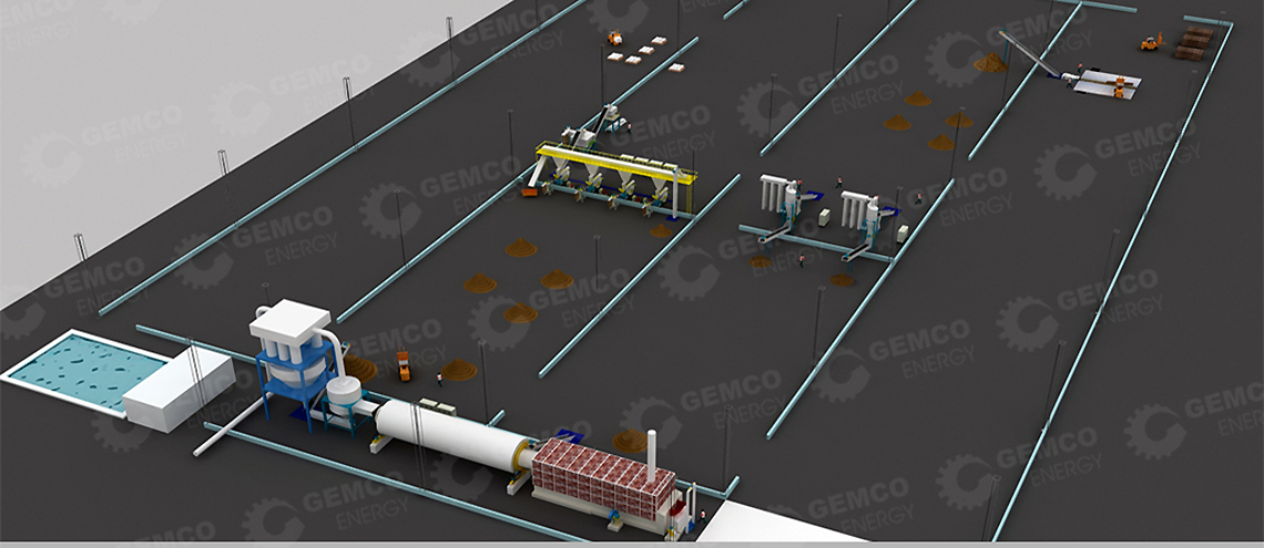 biomass pelletizing plant