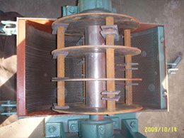 Inner structure of wood crusher