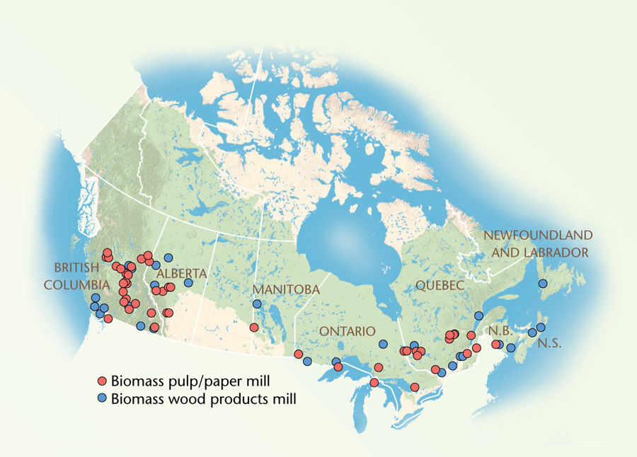 biomass energy in Canada