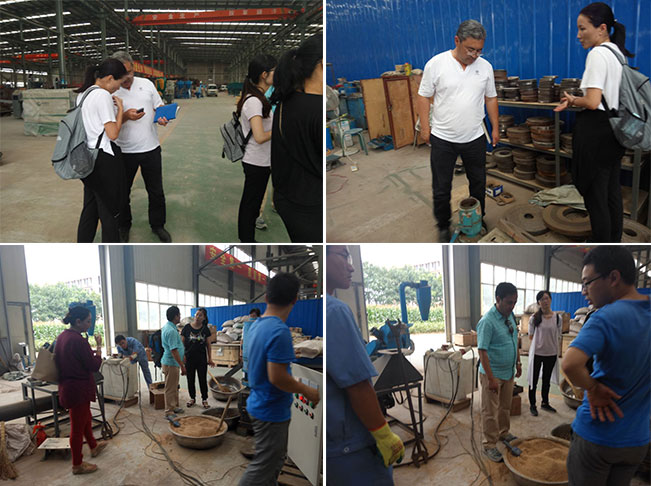 Customers from Malaysia are visiting GEMCO pellet mill factory
