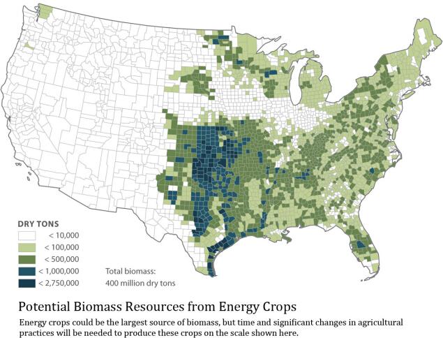 potential biomass in America